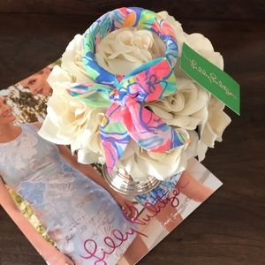 Lilly Pulitzer Bennett Blue fabric wrapped bangle